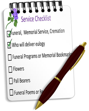 Funeral Service Checklist | Guide for Planning Funerals | Memorial