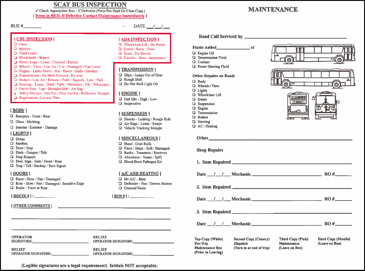 How to Fill Out the CDL Pre trip Inspection Form | Pre Trip