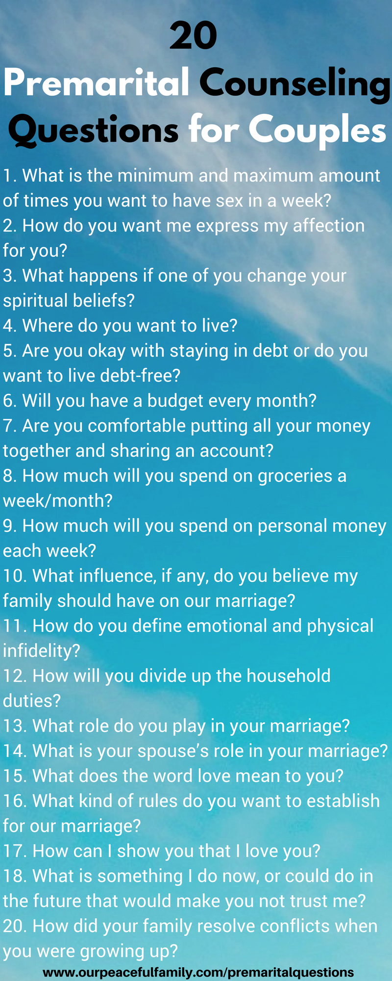 Printable premarital counseling questionnaire non religious Form
