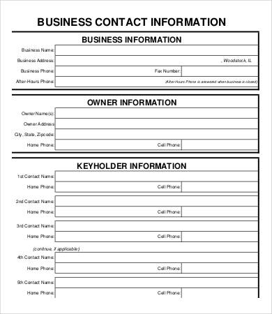 Printable business forms charlotte clergy coalition printable business form templates accmission Choice Image