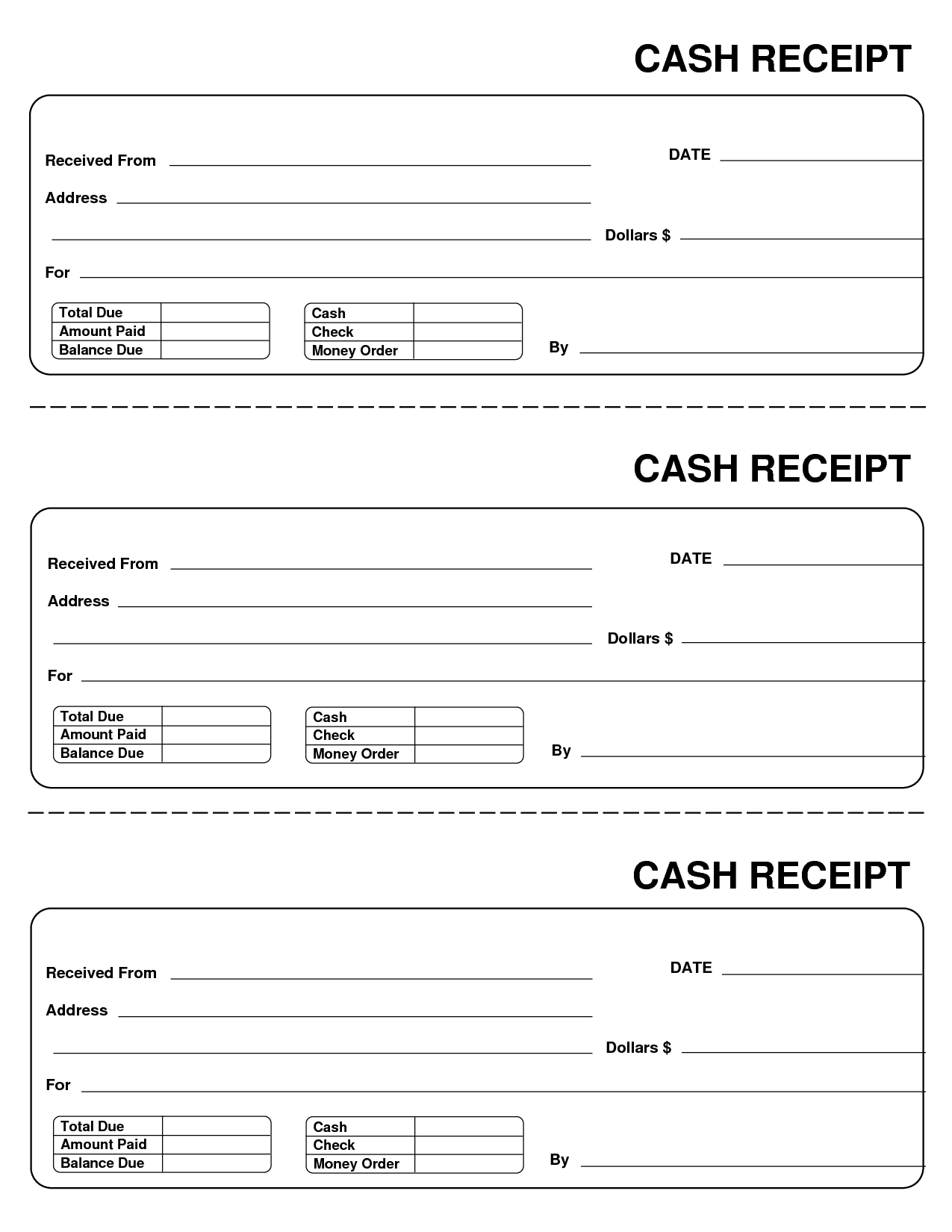 printable cash receipts charlotte clergy coalition. Black Bedroom Furniture Sets. Home Design Ideas