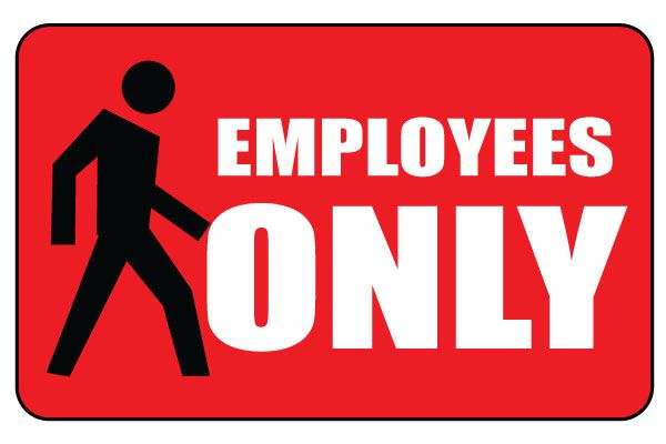Printable Notice Employees Only Sign