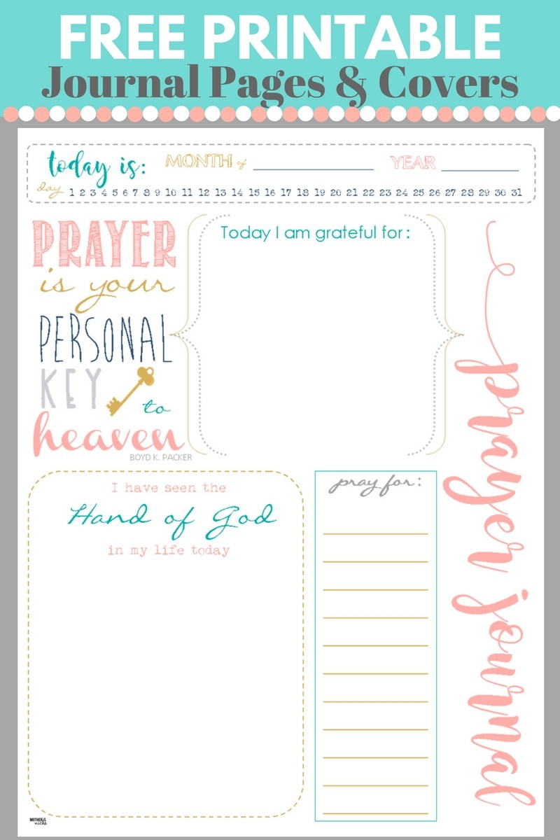 Start a PRAYER JOURNAL for More Meaningful Prayers: FREE PRINTABLES!!!