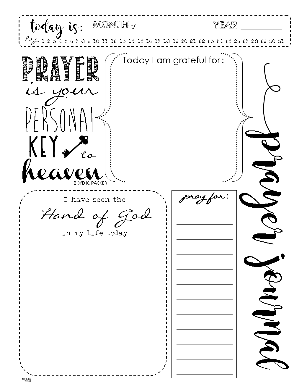 Journaling Templates | Printable Prayer Journal Template Charlotte Clergy Coalition