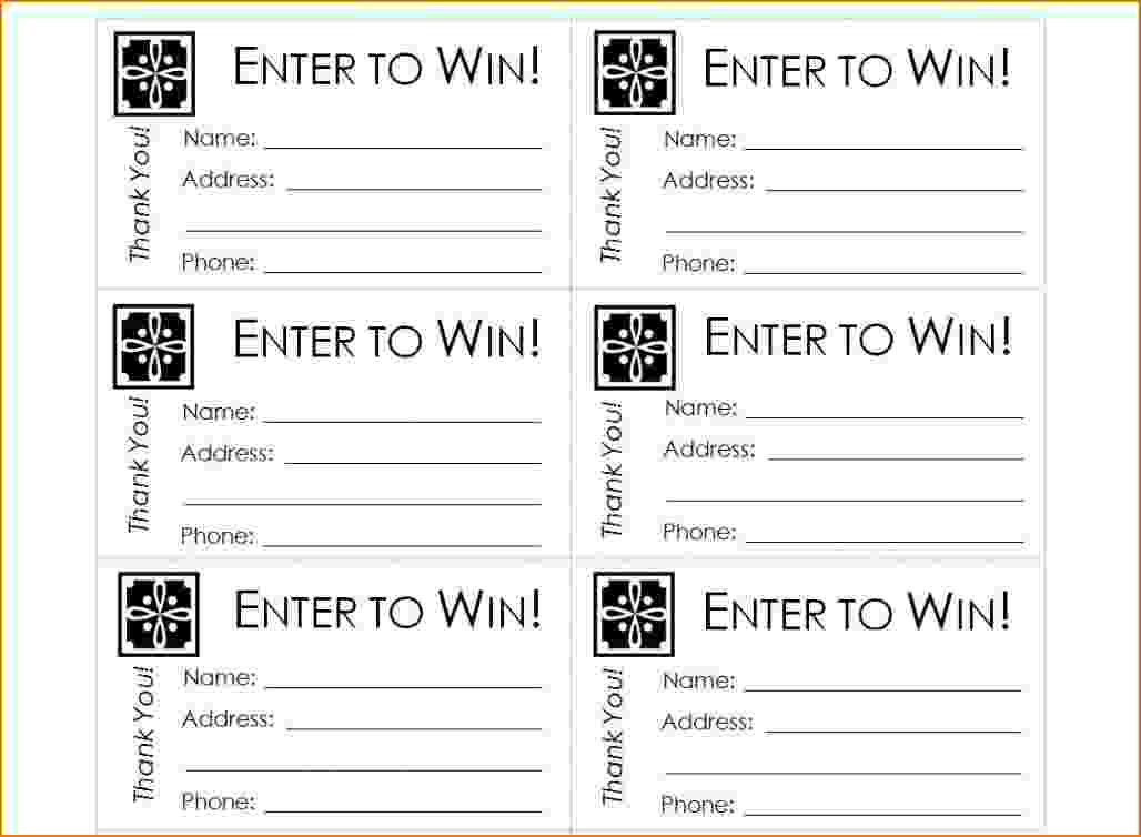 Printable Raffle Tickets Template | charlotte clergy coalition