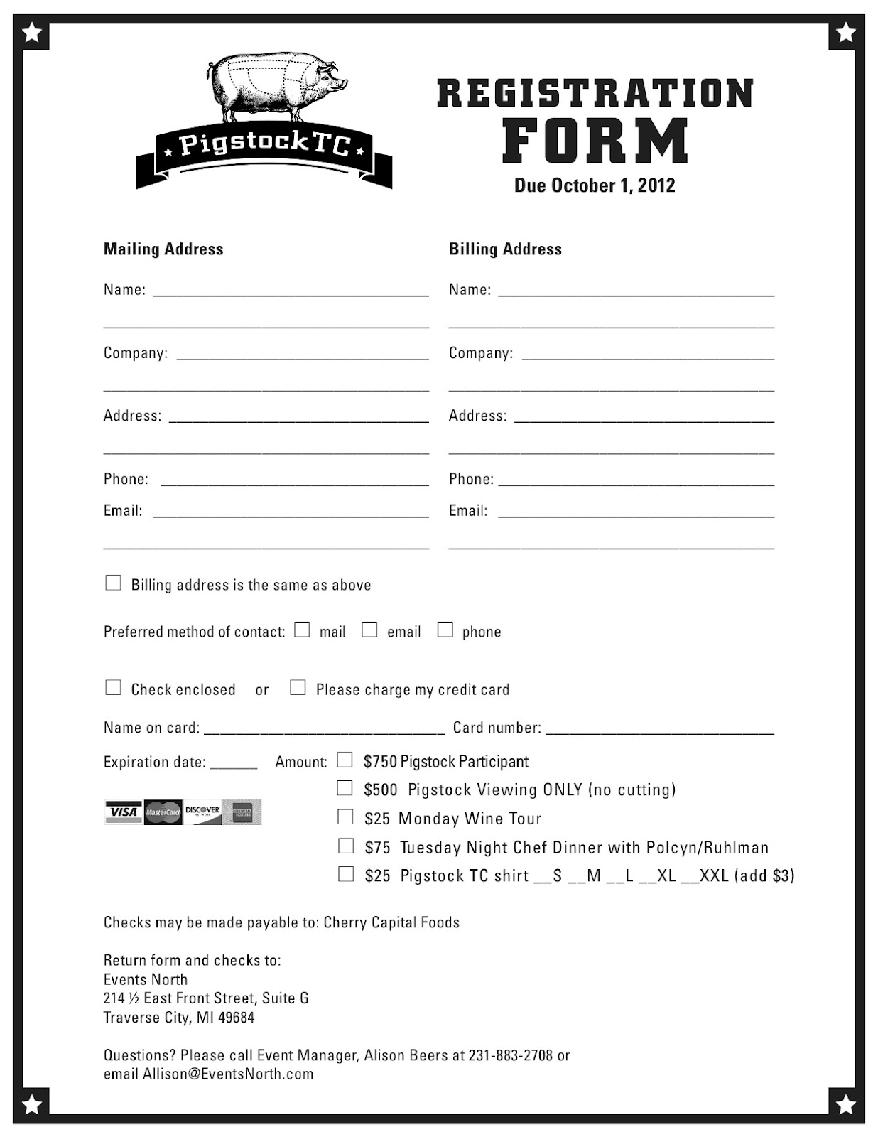 Printable Registration Form Template