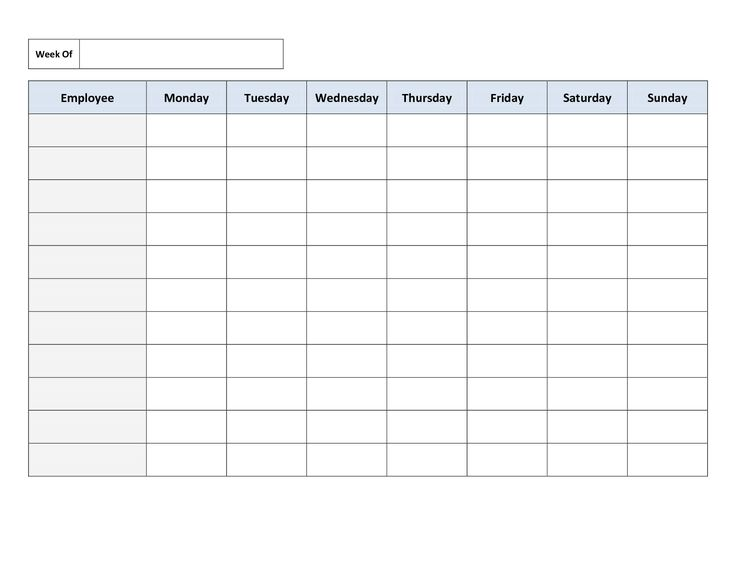 work schedule printable   April.onthemarch.co