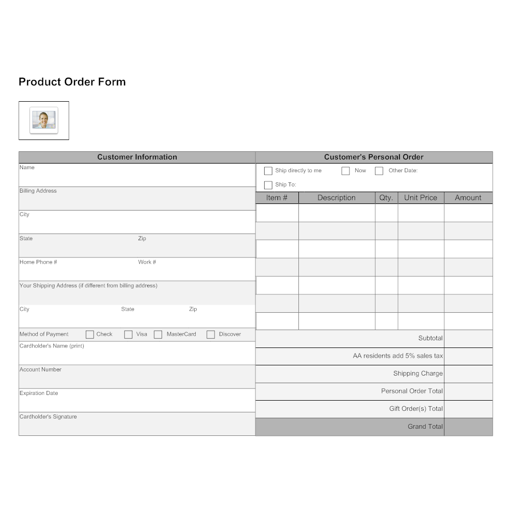 Product order form templates charlotte clergy coalition product order form templates maxwellsz