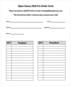 Similar Posts: Product Order Form Templates ...