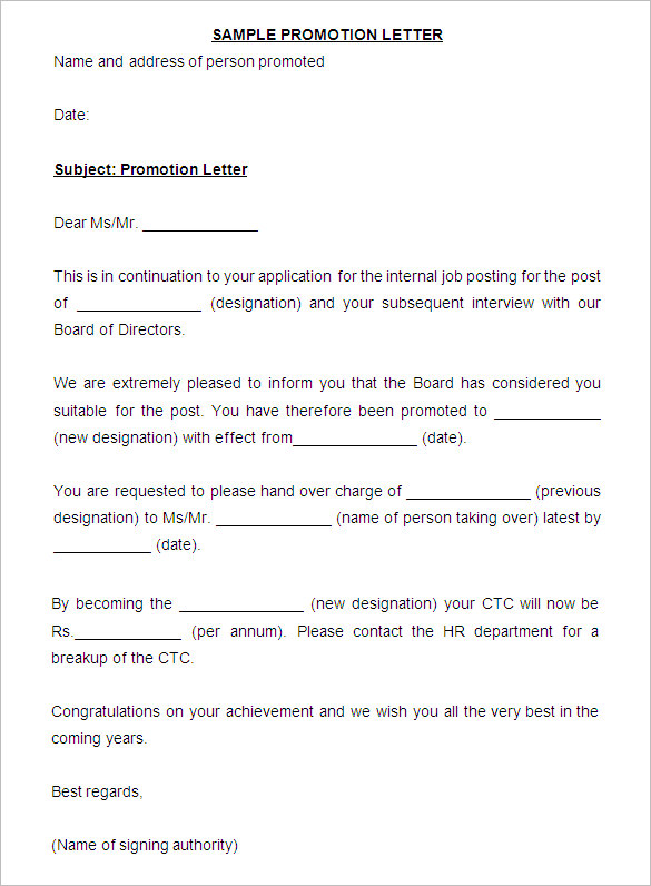 promotion letters template charlotte clergy coalition