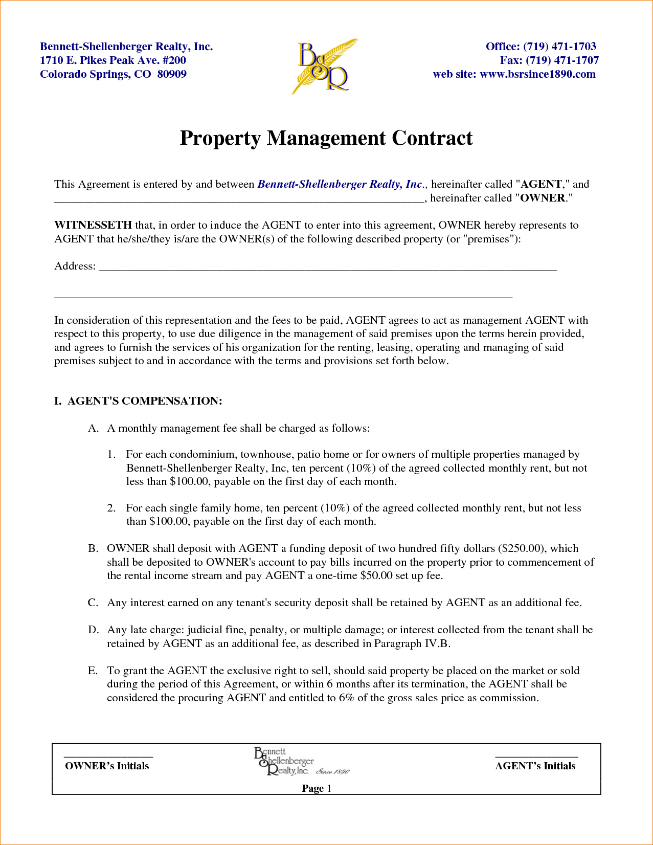 Property management contract template facile furthermore by