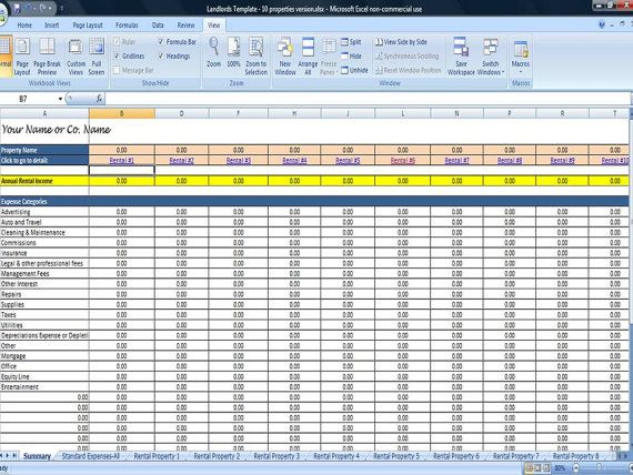property management excel template   Boat.jeremyeaton.co
