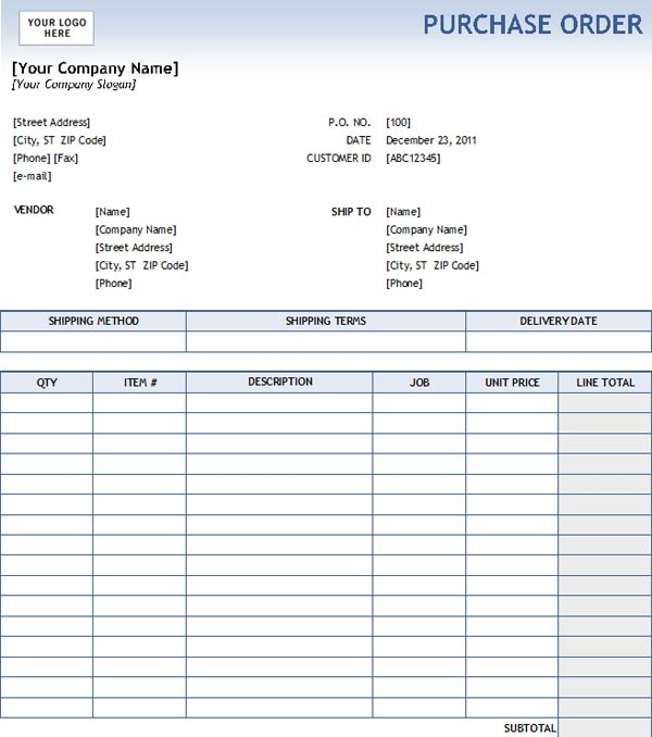 purchase order forms templates charlotte clergy coalition