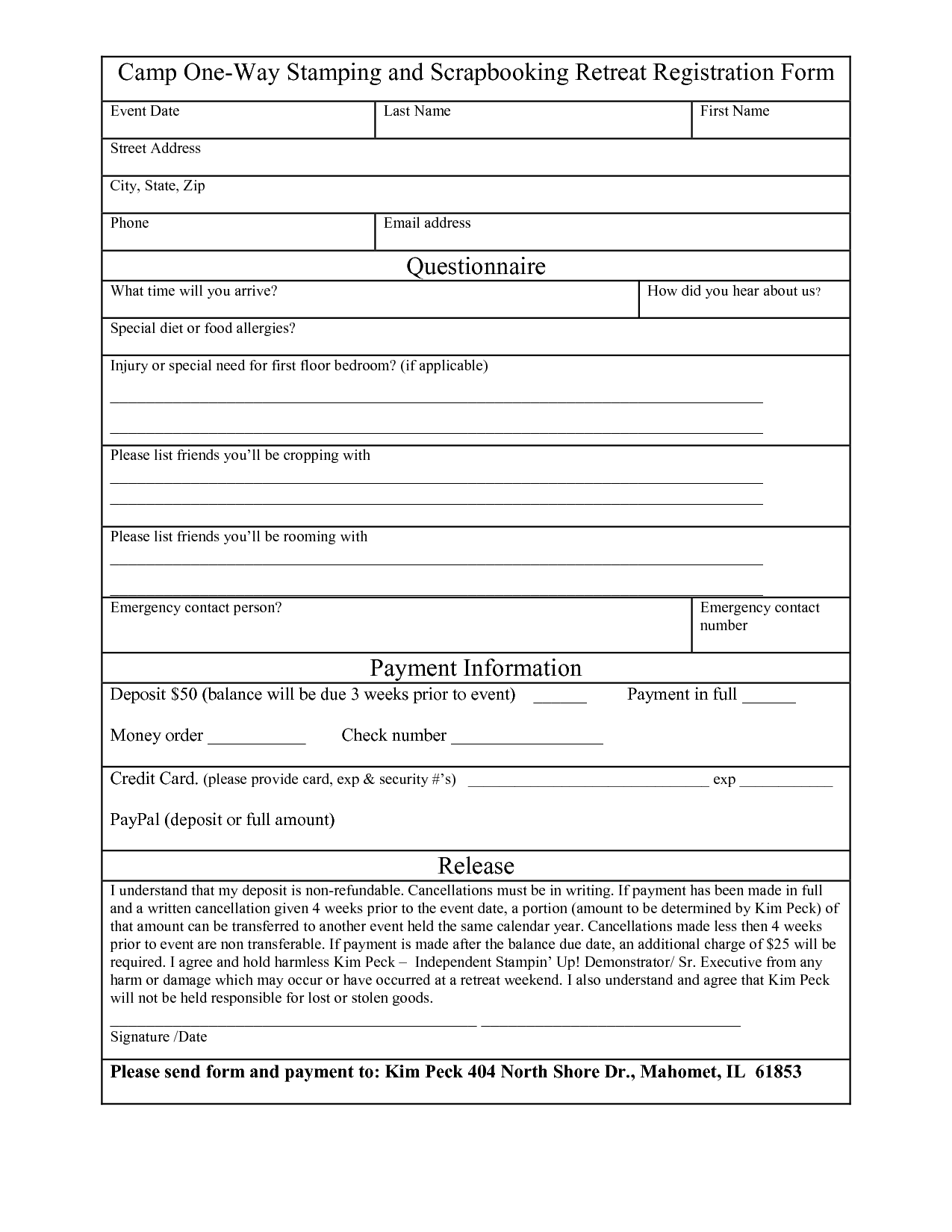 Application Form Template Free 1 – cool green jobs