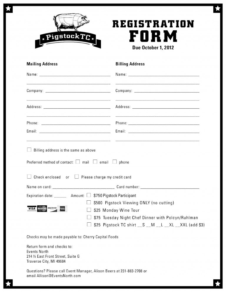registration form templates registration form template free