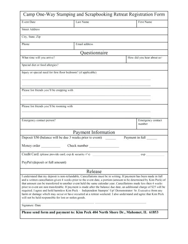 Registration Form Template Free Download | charlotte clergy coalition