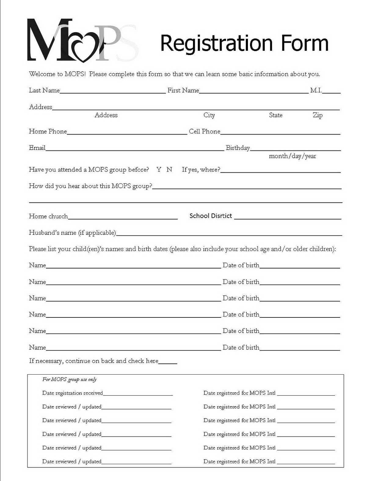 registration form templates free download   April.onthemarch.co