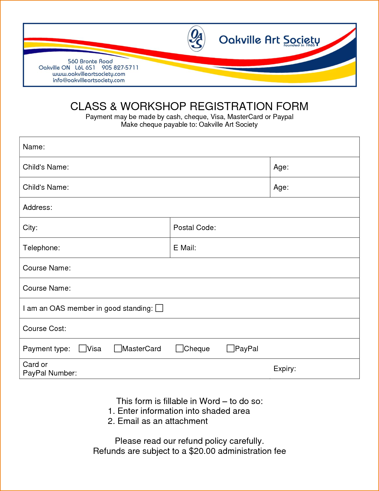 registration form word template   Boat.jeremyeaton.co