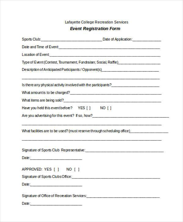 Registration Forms Template Free | charlotte clergy coalition