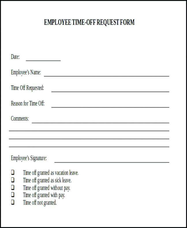 Request day off form charlotte clergy coalition 7 sample day off request forms sample templates thecheapjerseys Choice Image