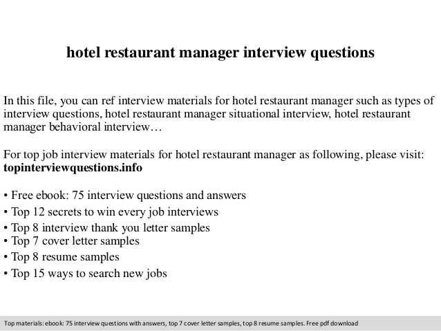 restaurant manager interview questions charlotte clergy coalition