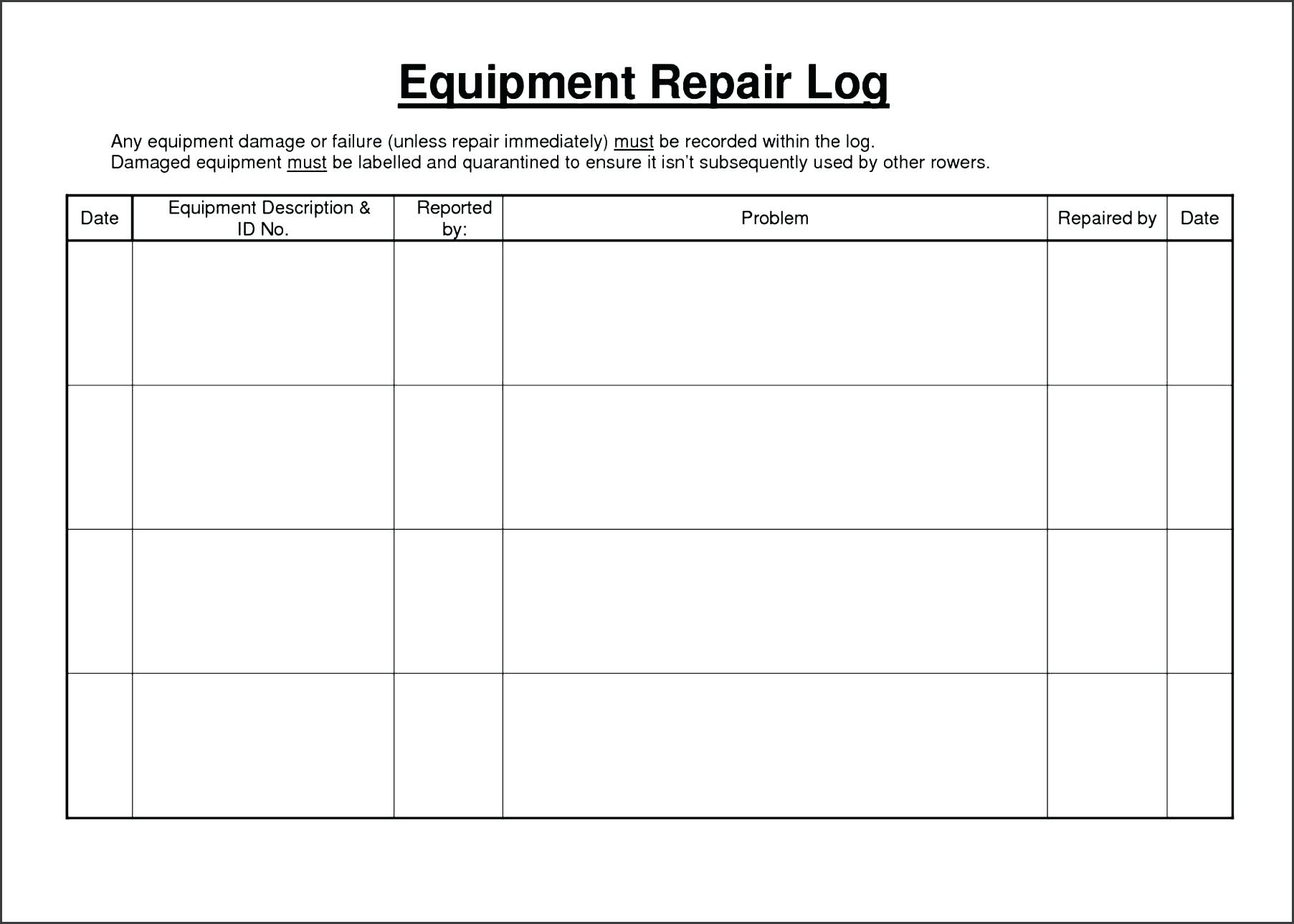 template: Sample Log Sheet Template Vehicle Driver Daily