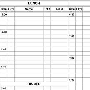 Menu Solutions R020   50 Sheet Refill for Reservation Book