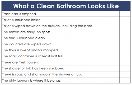Restroom Cleaning Checklist Charlotte Clergy Coalition