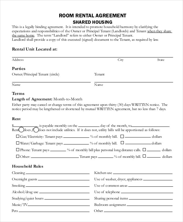 room lease agreement template room lease agreement template emsec
