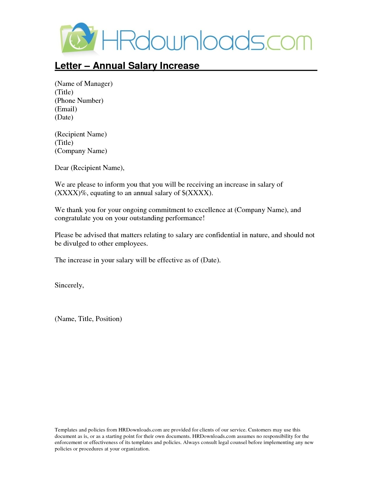 Salary Increase Letter To Employees | charlotte clergy coalition
