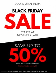 Black Friday Flyer Templates | PosterMyWall
