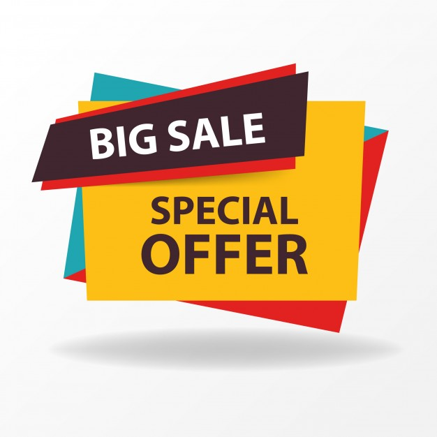 Colorful sale banner template Vector | Free Download