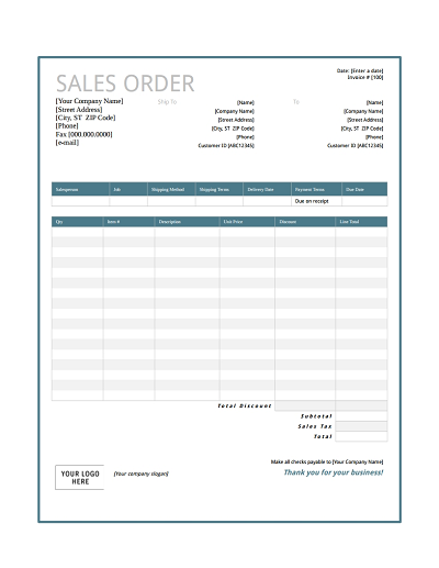 Sales Order Template: Free Download, Edit, Fill, Create and Print