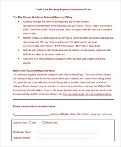 sample credit card payment form