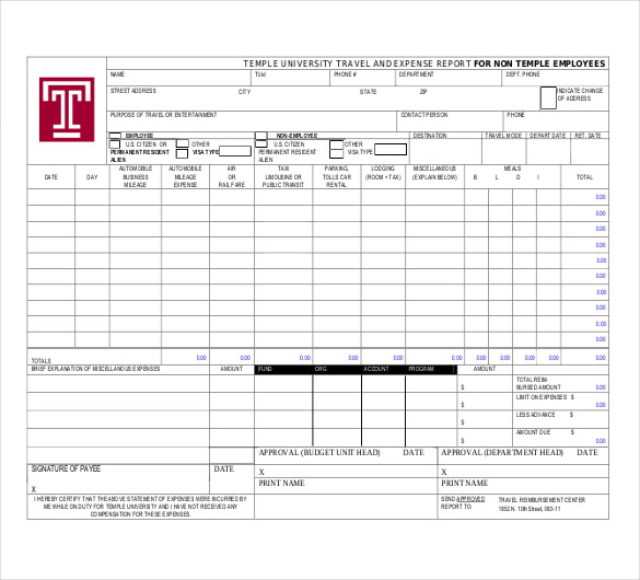 Expense Reports Templates 21 Expense Report Template Free Word