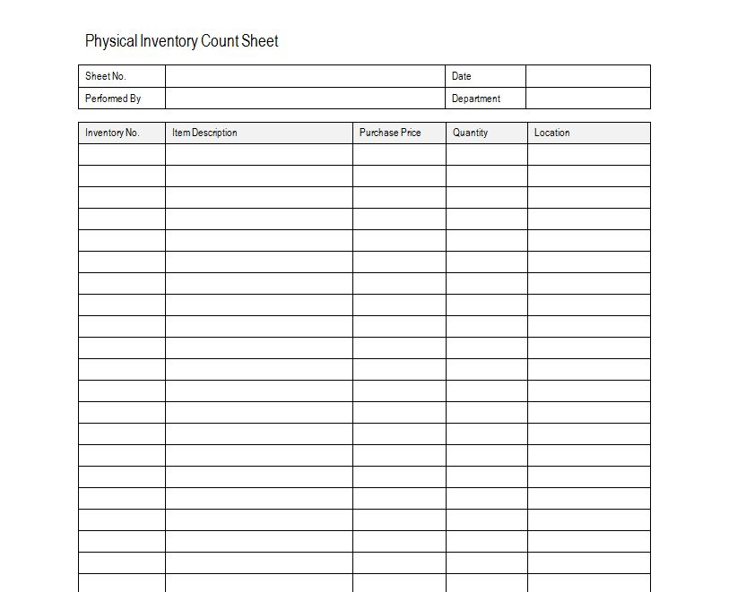 examples of inventory sheets   Boat.jeremyeaton.co