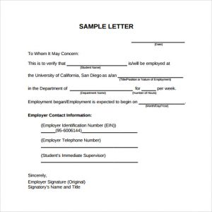 similar posts letter to verify employment