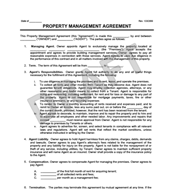 Property Management Agreement Template