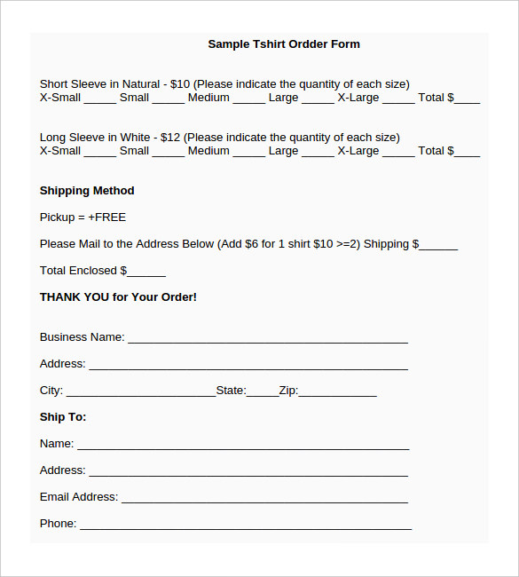 sample t shirt order form template t shirt order form template 26