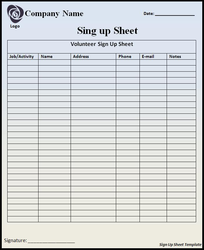 sign up sheets potluck sign up sheet