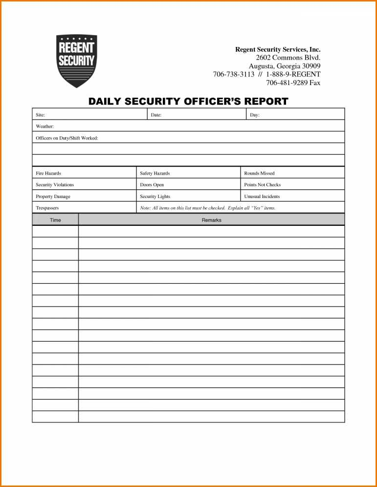 Security Activity Report Agendapdffiller  Fill Online