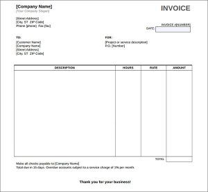 Service Invoice Template Word Download Free Charlotte Clergy Coalition - Download free invoice template