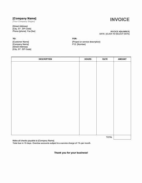 free invoice template hourly service invoice template free invoice