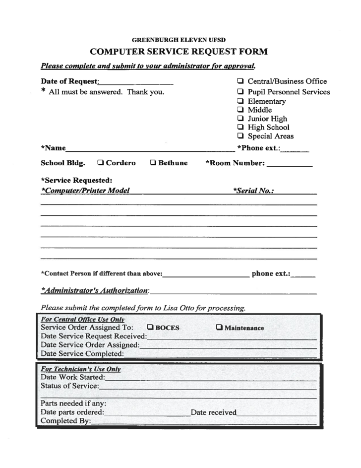 Service Request Form Template | charlotte clergy coalition