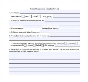 Charming Similar Posts: Sexual Harrassment Complaint Form · Sexual Harassment ...