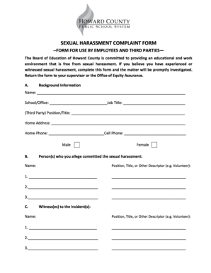 Harassment Complaint Form   Fill Online, Printable, Fillable