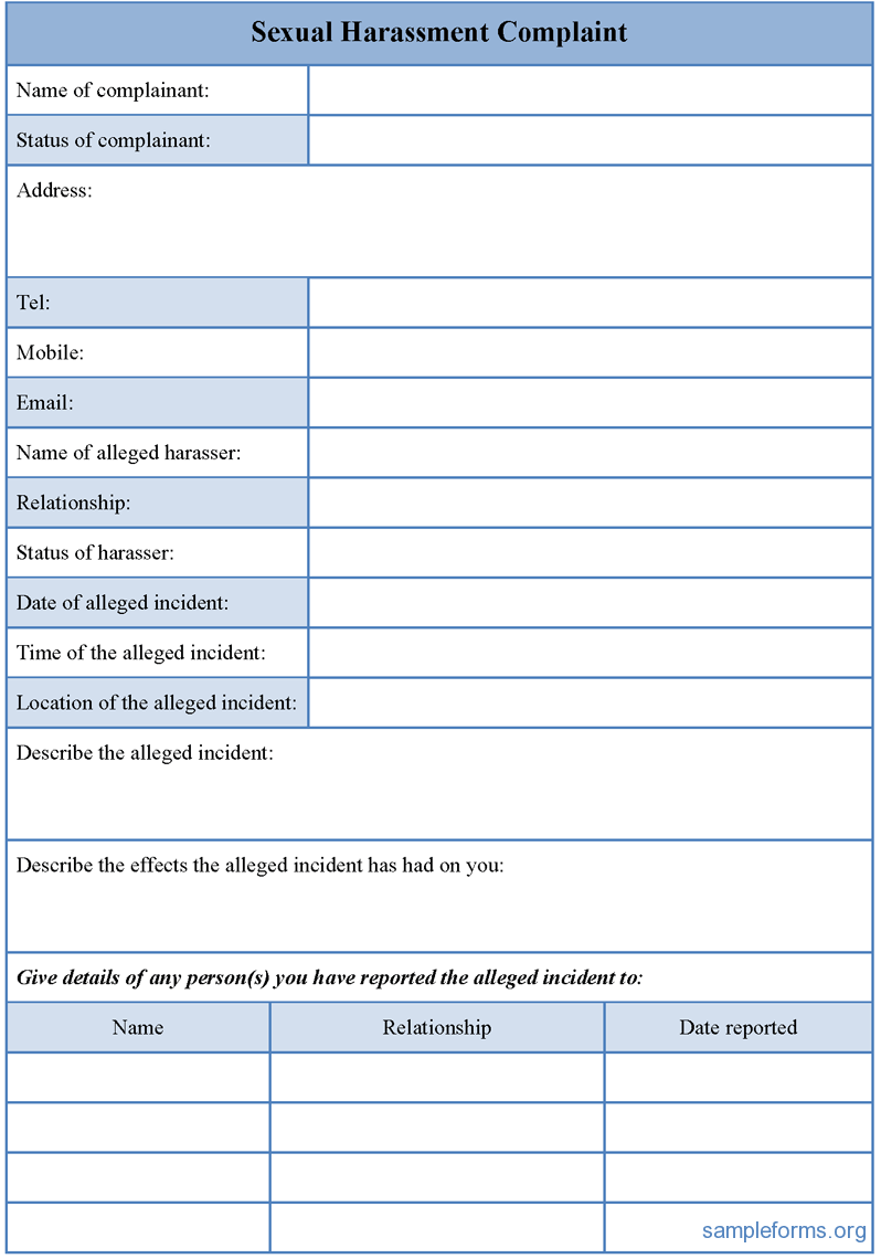Official Complaint Form Templates for WORD | Formal Word Templates