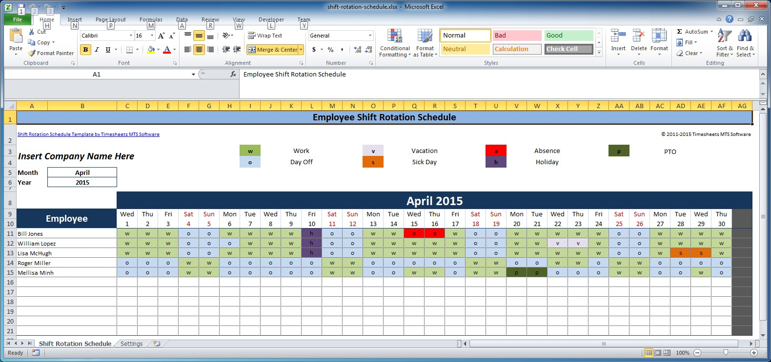 Shift Scheduling Template | charlotte clergy coalition