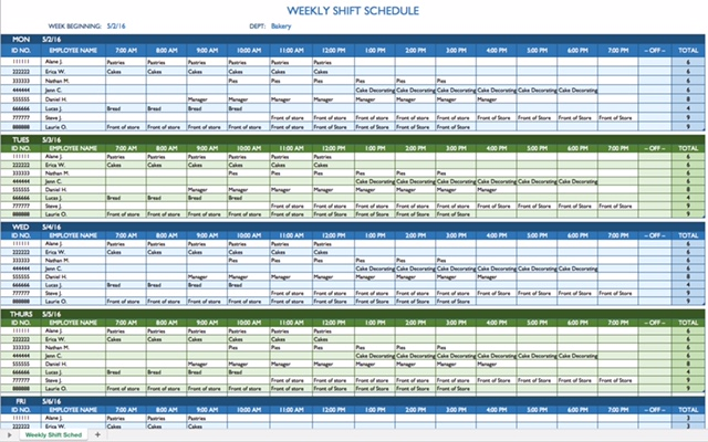 Shifting Schedule Template | charlotte clergy coalition