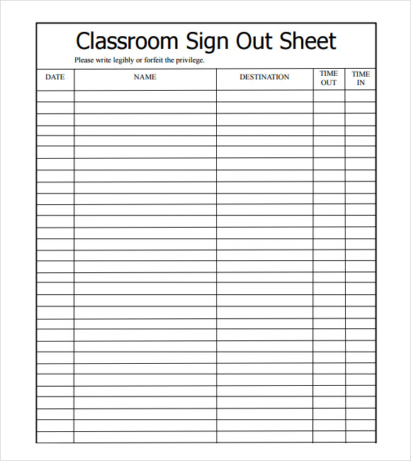 signout sheet   Gecce.tackletarts.co
